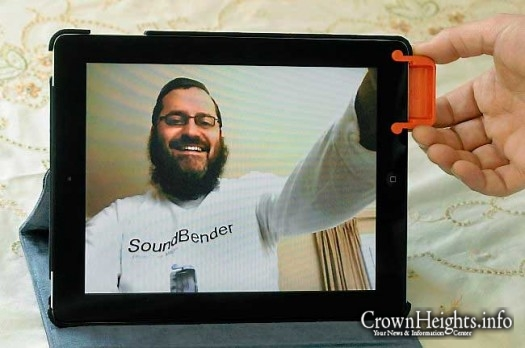 "Moshe Weiss' Sound Bender iPad speaker accessory is sold at Walgreens and on Amazon. The St. Paul rabbi and inventor hopes to get more funding by appearing on ABC's ""Shark Tank."""