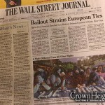 Chabad Seder Featured on WSJ Front Cover