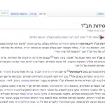 'Chabad' Most Edited Article on Hebrew Wikipedia