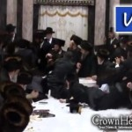 Video: Sanz Chasidim Scramble for Apples from Rebbe