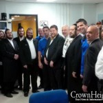 Picture of the Day: Satmar Activists at 71st Precinct