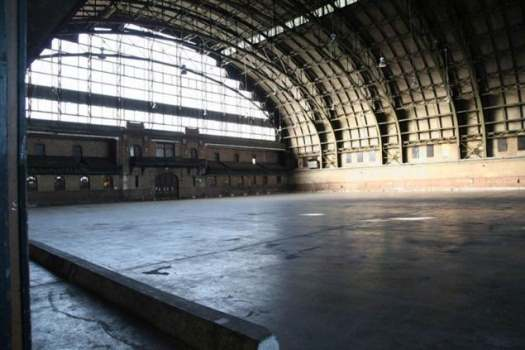 Interior of the Crown Heights Armory.