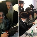 Satmar Rebbe Learns Torah of the Rebbe Rashab
