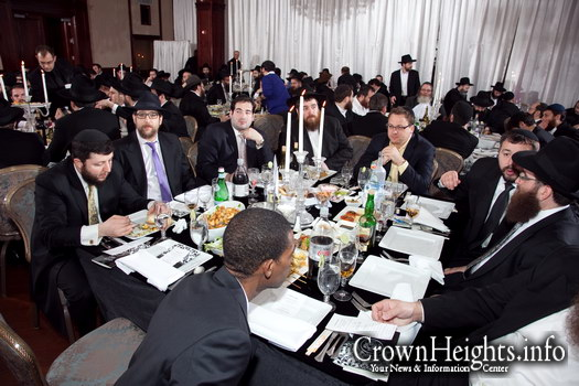 File photo: Bais Shmuel members gather for a Melave Malka in 2011.