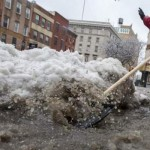 Snow, Ice, Slush Make Slippery Going in NYC