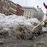 Snow, Ice, Slush Make Slippery Going in NYC