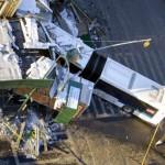1 Dead, 4 Injured in NYC Bus-Truck Crash
