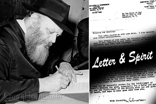 Letter & Spirit: The Role of a Shliach • CrownHeights.info