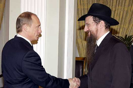 Rabbi Berel Lazar with Russian President Vladimir Putin.