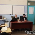 Cheder at the Ohel Students Tested on Laws of Tefilin