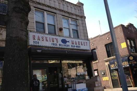 Raskin's Fish Market in Crown Heights.
