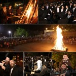 Photos: Hundreds at Lag Ba'omer Bonfire