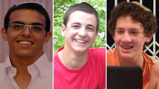 Eyal Yifrach, 19, Naftali Fraenkel, 16, and Gilad Shaar, 16, HYD.