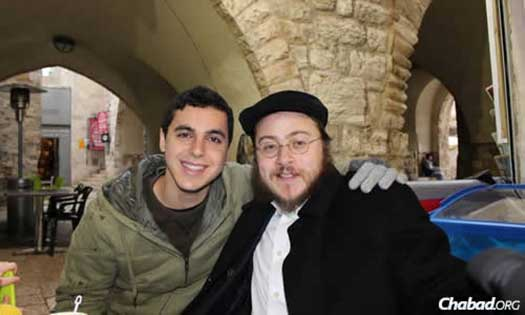 Sean Carmeli OBM wiith Rabbi Asher Hecht.