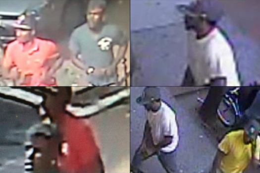 Photos released by police of the suspects in the two incidents.