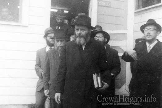 The Rebbe during a  visit to Camp Gan Yisroel in upstate New York.