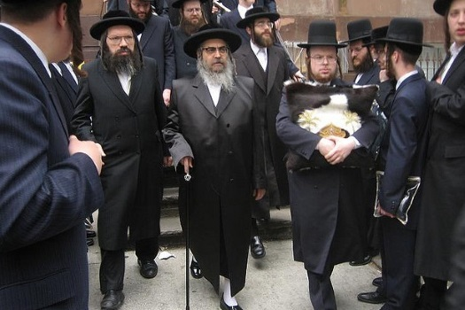 The Satmar Rebbe of Kiryas Yoel, Rabbi Aharon Teitelbaum.