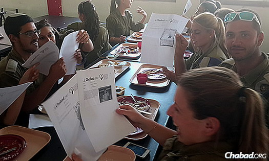 IDF troops were moved and delighted by the letters they received, along with news of mitzvot done to support them.