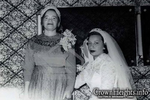 Sixty Years Ago Today: Chana Sharfstein with her mother Rebbetzin Zlatta Zuber.