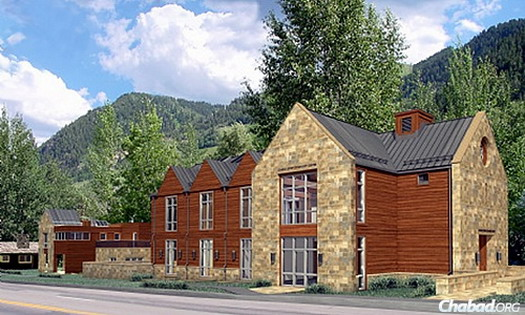 Artist's rendering of the exterior of new Chabad Jewish Community Center Aspen Valley.
