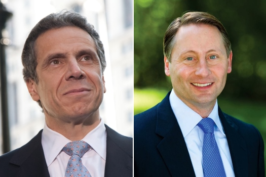 Left: Andrew Cuomo. Right: Rob Astorino.