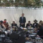 Melbourne Dignitaries Enjoy Sukkah Luncheon