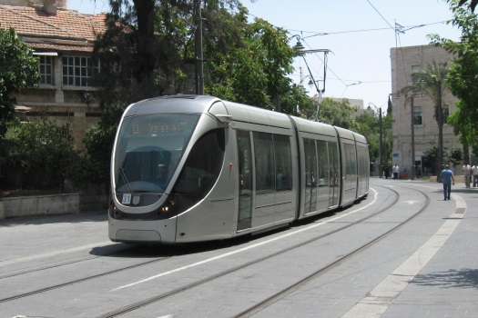 File photo: Jerusalem Light Rail.