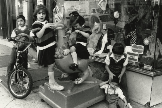 A black and white photograph by Chie Nishio taken in Crown Heights in the early 1990s. Photo: DNA Info.