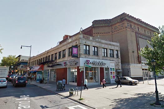 The site of the proposed building project, Eastern Parkway and Nostrand Avenue. Photo Google Maps.