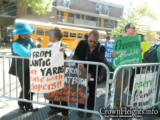 File photo: A protest by members of MTOPP (Movement to Protect the People) in Crown Heights.