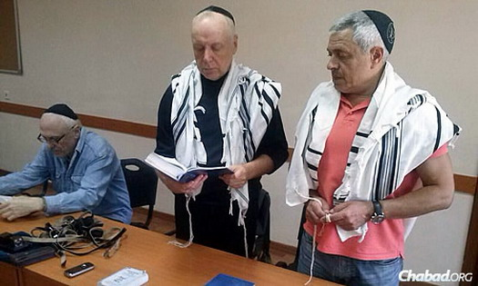 Dontesk's synagogue draws a daily minyan, or prayer quorum, and the Jewish day school remains open, despite the ongoing precarious situation.