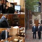 Rabbi Mashash Visits Lubavitch Headquarters and Ohel