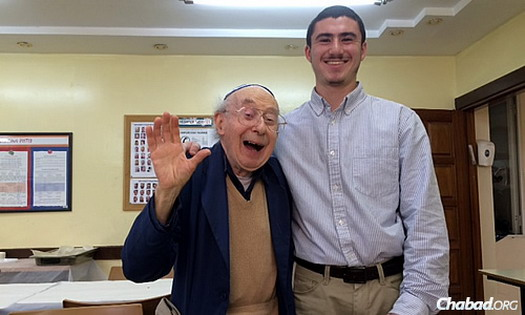 Shlomo Lichtenberg, 85, is currently studying at the Mayanot Institute of Jewish Studies in Jerusalem for the first time in his life.
