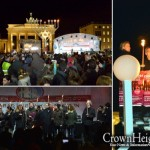 Thousands Watch as Menorah Lit at Brandenburg Gate