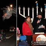 Gelt Rains Down at Upstate Menorah Lighting