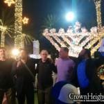 Alan Dershowitz Lights Menorah on Miami's Lincoln Rd.