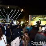 Menorah Lit in Tel Aviv's Dizengoff Square