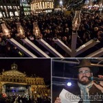 100's Participate in Menorah Lighting in Dam Square