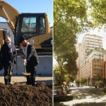 Shliach Helps Break Ground for New Development