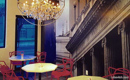 The interior of the BerMax Caffé + Bistro. Below: Maxim Berent.