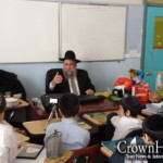 Head Shliach Farbrengs with Cheder at the Ohel