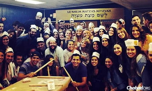 Students at the University of Miami in Coral Gables, Fla., co-directed by Rabbi Mendy and Henchi Fellig, participate in all kinds of Jewish programs, events and holiday activities.