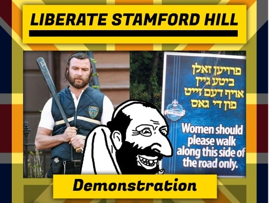 A poster put up by the anti-Semitic group advertising the rally.
