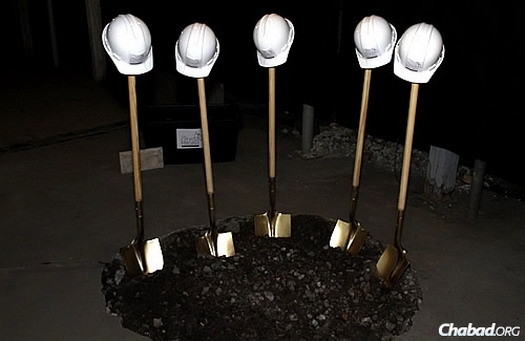 "Hard hats, shovels and freshly broken ground for ""The City Mikvah–Mei Daniel"""