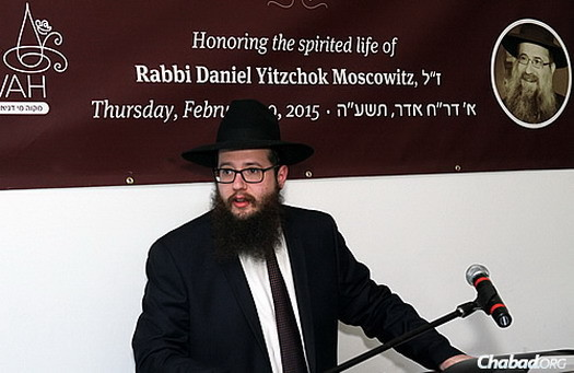 Rabbi Yosef Moscowitz, director of the Bucktown Chabad and executive director of Lubavitch Chabad of Illinois.