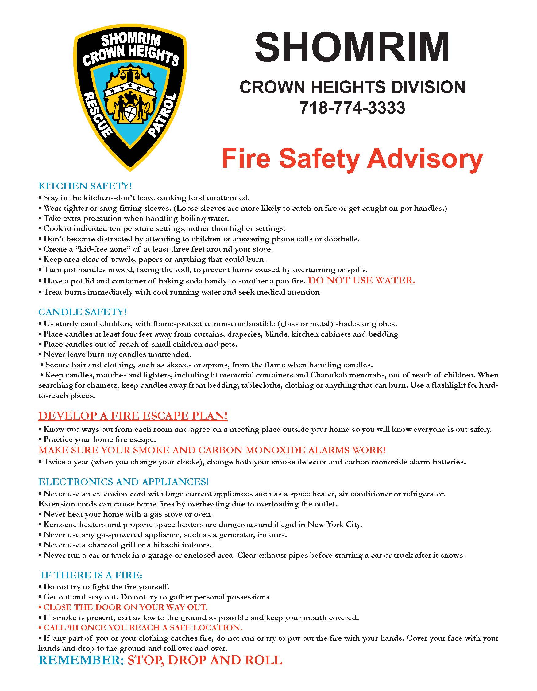 fire safety in the home essay