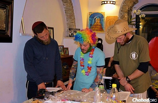 "Reading the Megillah on Friday (""Shushan Purim"") in Jerusalem."
