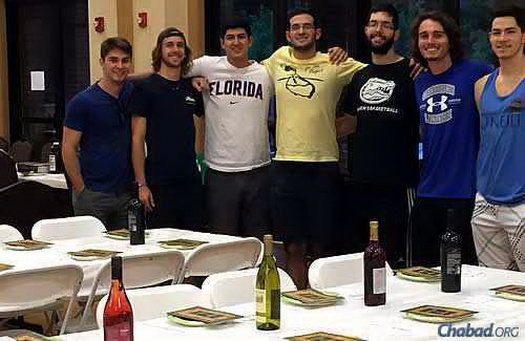 Gainesville, Fla. Seder of Rabbi Berl and Chanie Goldman, Lubavitch Chabad Jewish Student Center, Gainesville, Fla.