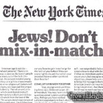 From Days Gone By: 'Jews! Don't Mix-in-Match!'