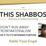 Shabbos at the Besht: Don't Run away from Materialism
